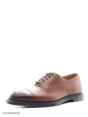 Туфли Dr.Martens. Цвет: коричневый