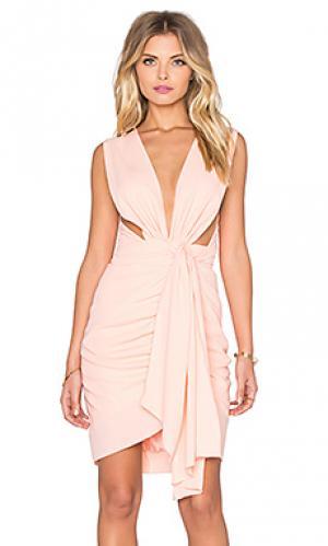Мини платье quentin Maurie & Eve. Цвет: розовый