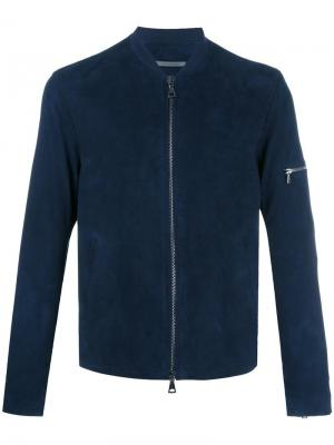 Классическая куртка бомбер John Varvatos. Цвет: синий