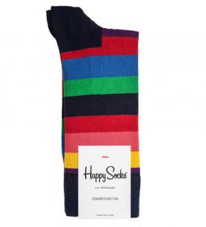 Разноцветные хлопковые носки в полоску Happy Socks. Цвет: полоска