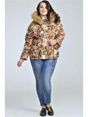 Куртка Modress. Цвет: рыжий, светло-оранжевый