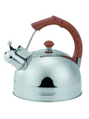 Чайник со свистком 4,0л. BOHMANN. Цвет: светло-коричневый