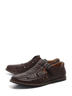 Туфли BERTEN. Цвет: коричневый