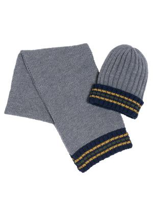 Комплект: шапка, шарф CHICCO. Цвет: серый