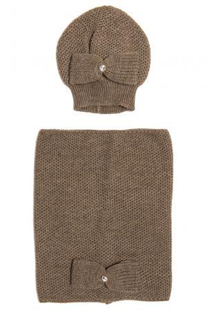 Комплект (шапка и снуд) 153130 Sos Chic. Цвет: коричневый