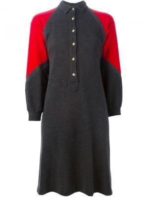 Трикотажное платье-поло Roberta  Di Camerino Vintage. Цвет: серый