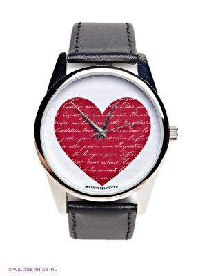 Часы Mitya Veselkov. Цвет: черный, красный, белый
