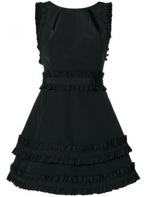 Приталенное платье без рукавов Alexis. Цвет: чёрный