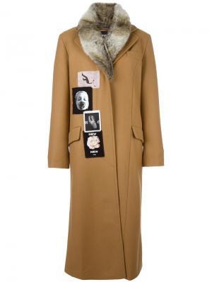Длинное пальто Drew Misbhv. Цвет: телесный