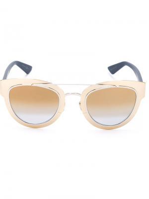 Солнцезащитные очки Diorchromic Dior Eyewear. Цвет: синий