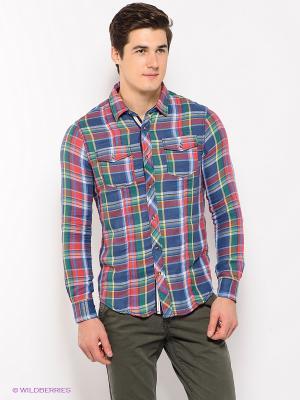 Рубашка Alcott. Цвет: красный, зеленый, синий