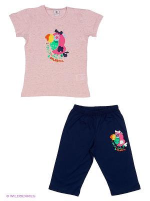 Пижама ROLY POLY. Цвет: синий, розовый