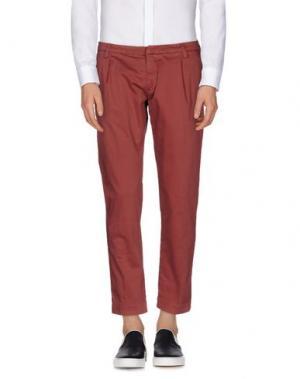 Повседневные брюки MASSIMO BRUNELLI. Цвет: красно-коричневый