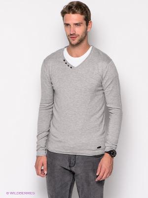 Пуловер Mezaguz. Цвет: светло-серый