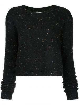 Speckled cropped sweater Public School. Цвет: чёрный