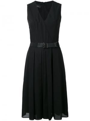 Платье с запахом спереди Akris. Цвет: чёрный