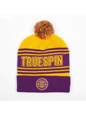 Шапка TRUESPIN Baseball Pom True Spin. Цвет: желтый