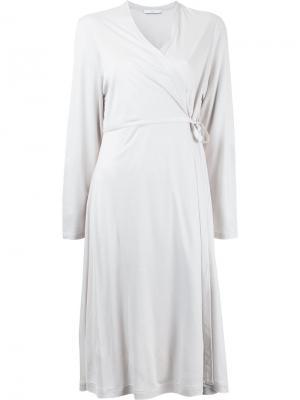 Платье с запахом Astraet. Цвет: белый