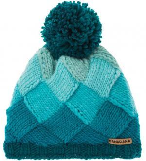 Трикотажная шапка с подкладкой CANADIAN. Цвет: бирюзовый