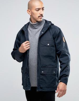 Fjallraven Темно-синяя куртка Greenland. Цвет: темно-синий