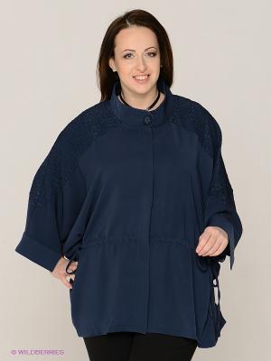 Куртка Gemko plus size. Цвет: темно-синий