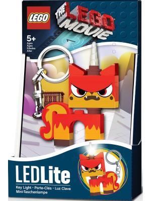 Брелок-фонарик для ключей LEGO MOVIE - Angry Kitty Lego.. Цвет: красный, оранжевый