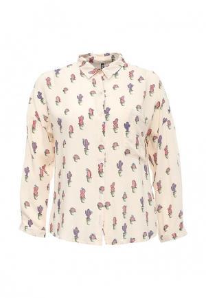Рубашка Moda Corazon. Цвет: бежевый