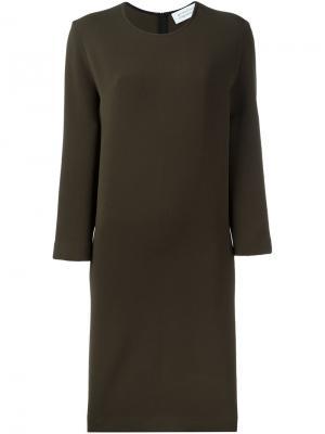 Платье шифт с круглым вырезом Gianluca Capannolo. Цвет: зелёный