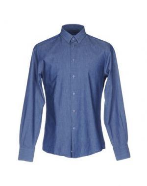 Джинсовая рубашка VERSACE COLLECTION. Цвет: синий