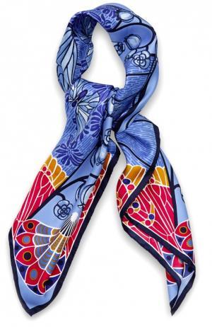 Шелковый платок Precious Garden Lalique. Цвет: синий