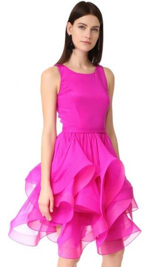 Платье без рукавов Reem Acra. Цвет: фуксия