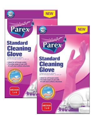 Перчатки хозяйственные Parex. Цвет: розовый