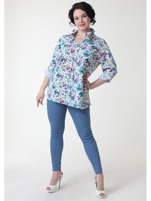 Блуза DizzyWay. Цвет: бирюзовый, салатовый, малиновый, белый