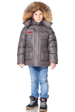 Куртка пуховая Junior Republic. Цвет: cерый
