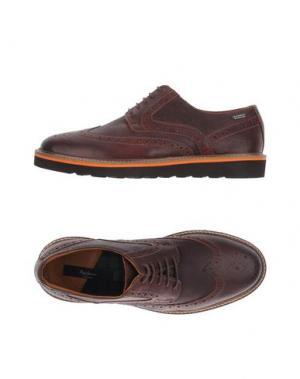 Обувь на шнурках PEPE JEANS. Цвет: баклажанный