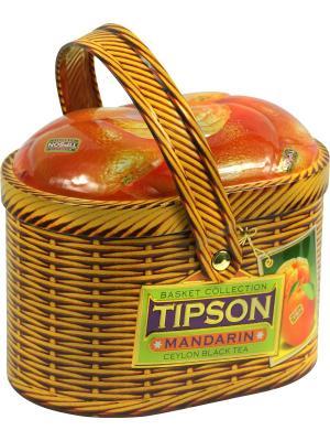 Чай Tipson Лукошко-Мандарин 80 гр, 1 ЛУКОШКО. Цвет: рыжий
