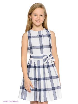 Платье Elsy. Цвет: белый, синий