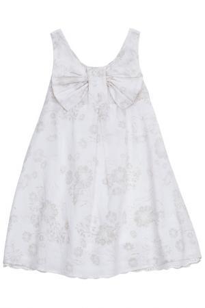 Платье Chicco. Цвет: бежевый