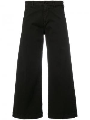 Укороченные расклешенные брюки P.A.R.O.S.H.. Цвет: чёрный