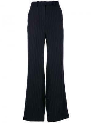 Широкие брюки в полоску Nehera. Цвет: синий