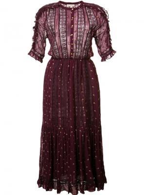 Платье Adalie Ulla Johnson. Цвет: розовый и фиолетовый