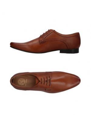 Обувь на шнурках KURT GEIGER. Цвет: желто-коричневый