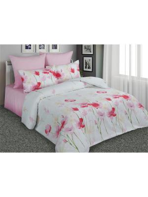 Постельное белье Маки 1,5 спальный Amore Mio. Цвет: белый