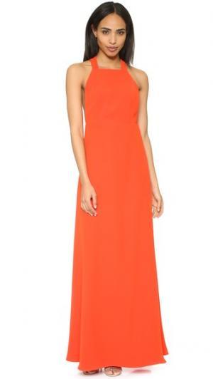 Макси-платье с высоким вырезом Jill Stuart. Цвет: мандариновый