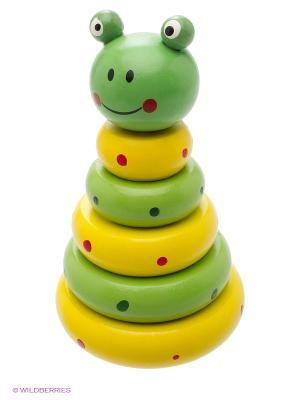 Деревянная игрушка пирамида Фабрика Фантазий. Цвет: зеленый