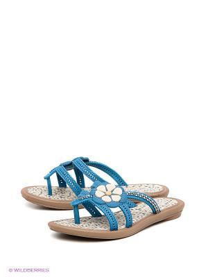 Пантолеты Grendha. Цвет: синий, коричневый