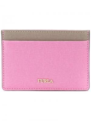 Визитница Babylon Furla. Цвет: розовый и фиолетовый