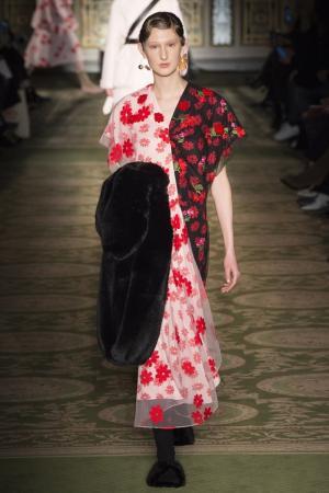 Платье с вышивкой Simone Rocha. Цвет: multicolor