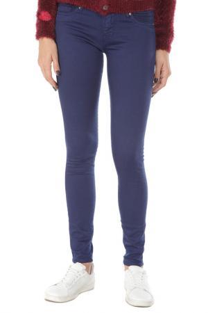 Зауженные брюки с застежкой на молнию Gaudi. Цвет: 2932 синий
