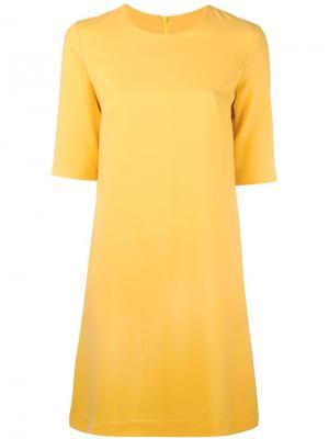 Расклешенное платье с короткими рукавами Ultràchic. Цвет: жёлтый и оранжевый